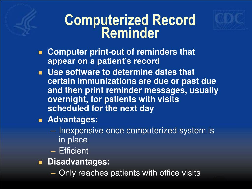 Computerized Record Reminder