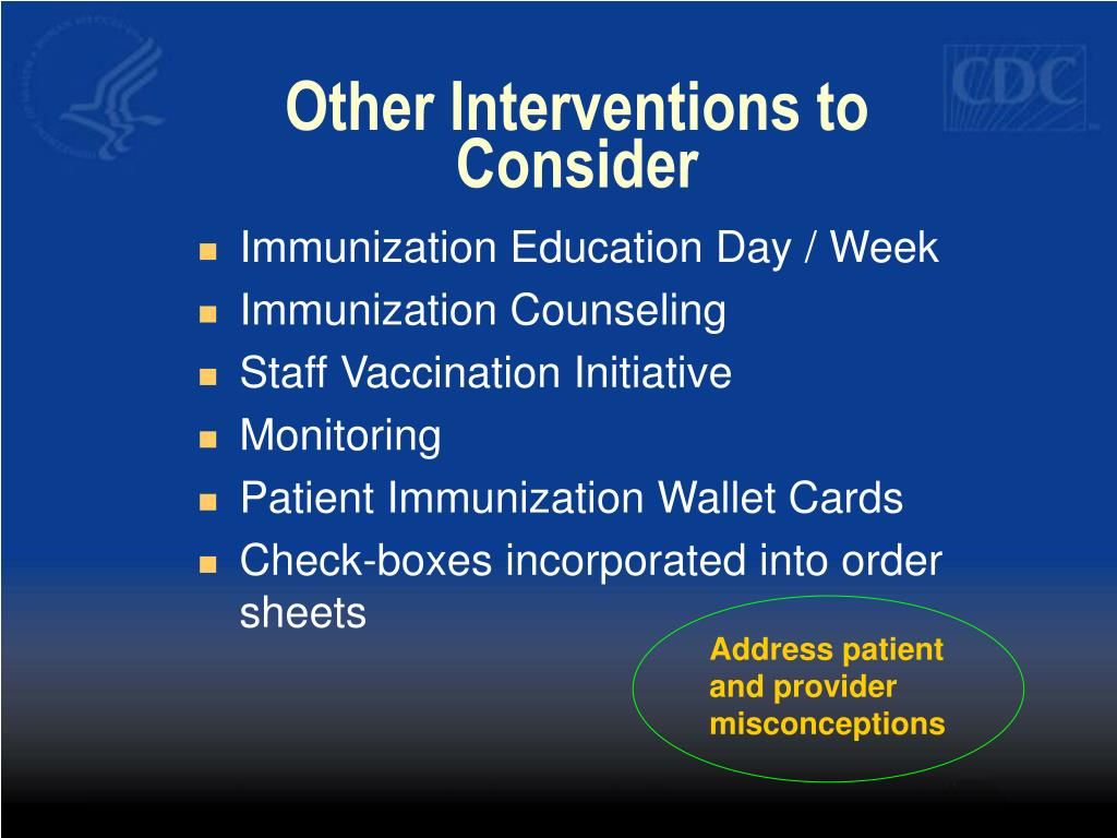 Other Interventions to Consider