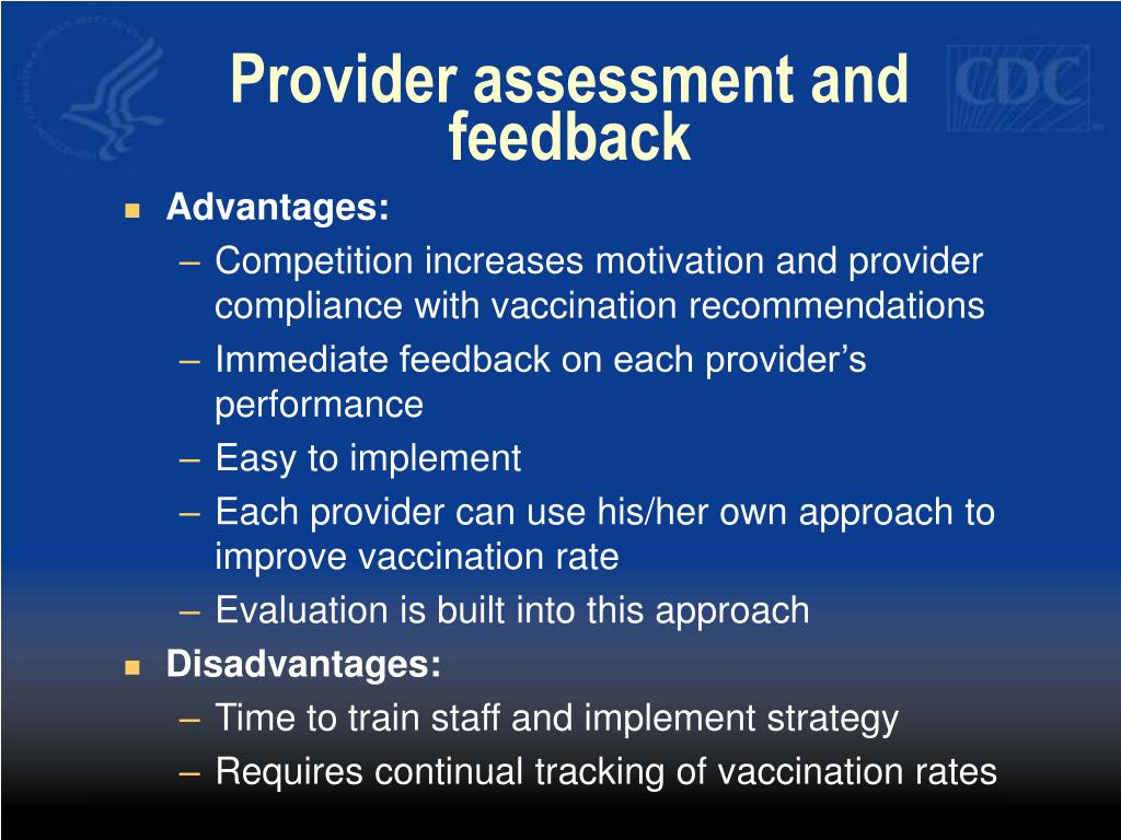 Provider assessment and feedback