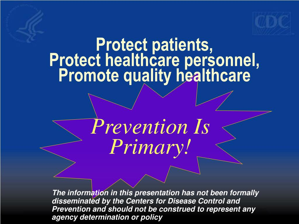 Protect patients,