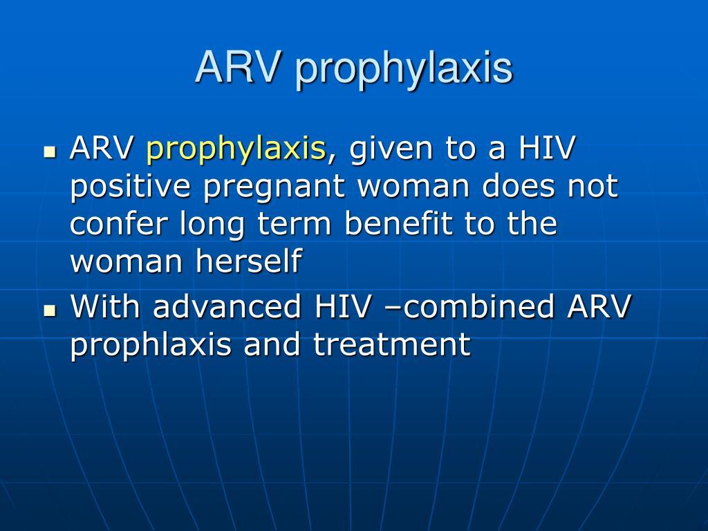 ARV prophylaxis