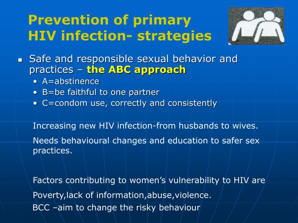 Prevention of primary HIV infection- strategies
