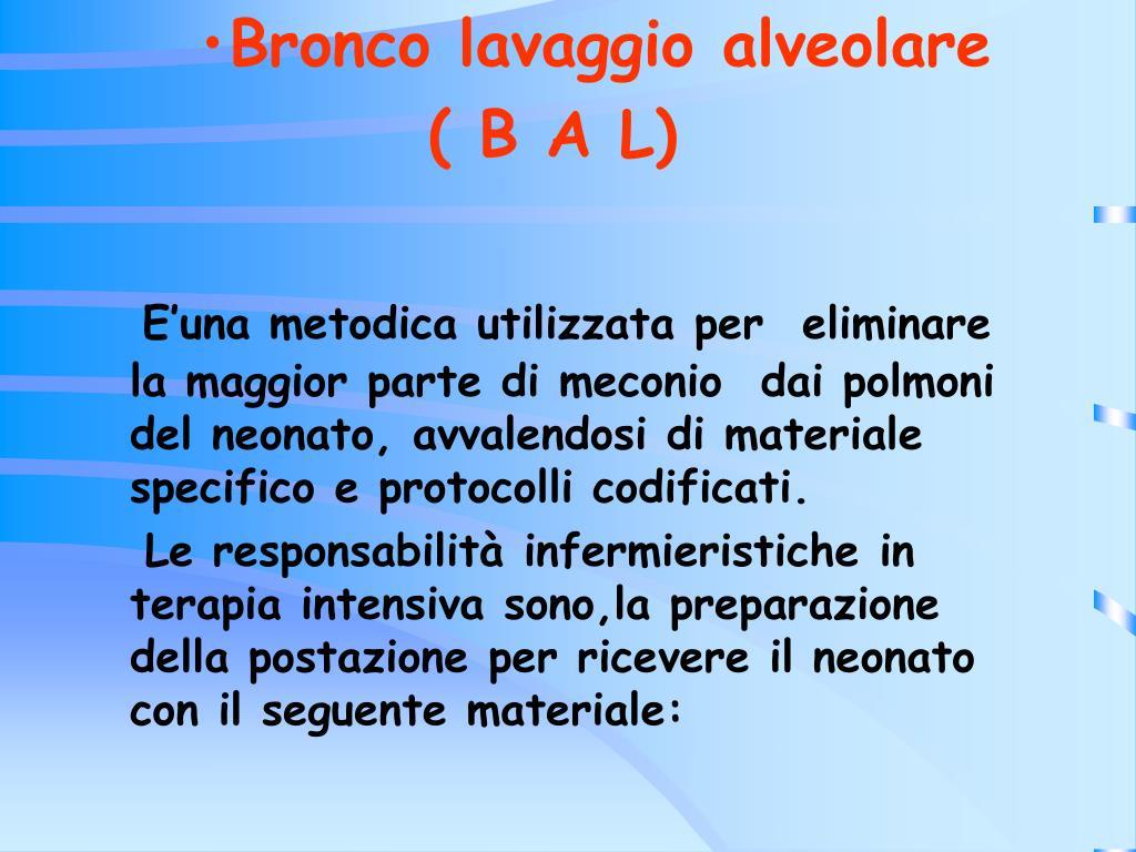 Bronco lavaggio alveolare