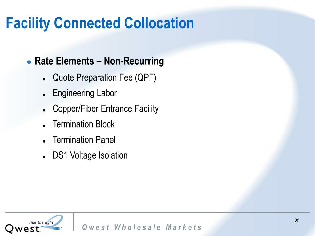 Facility Connected Collocation