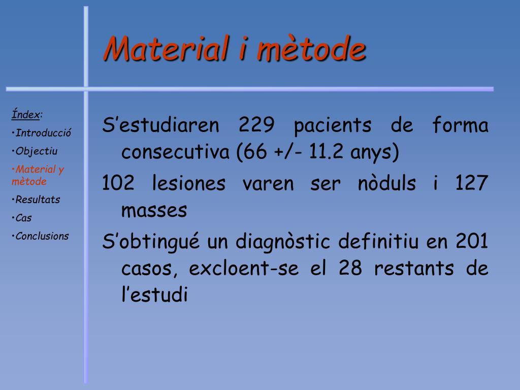 Material i mètode