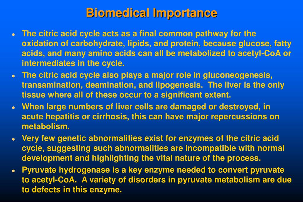 Biomedical Importance