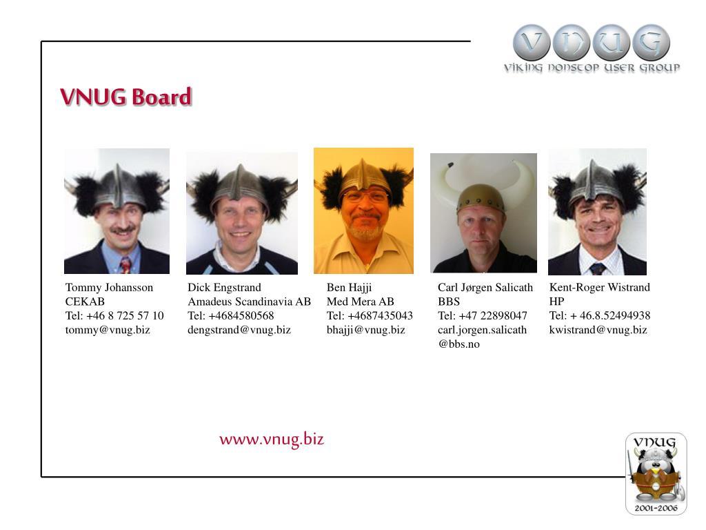 VNUG Board