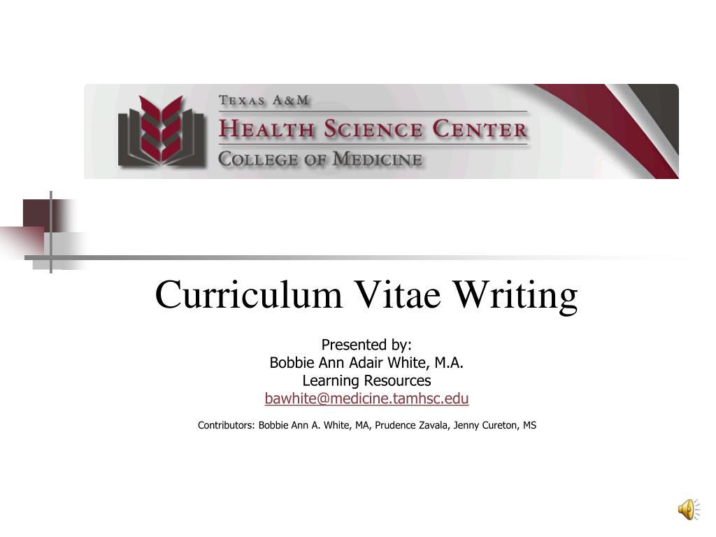 Curriculum Vitae Writing