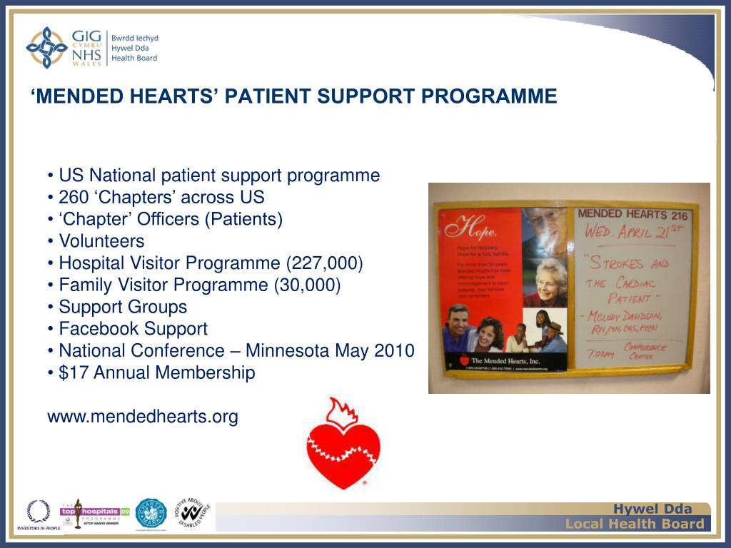 'MENDED HEARTS' PATIENT SUPPORT PROGRAMME