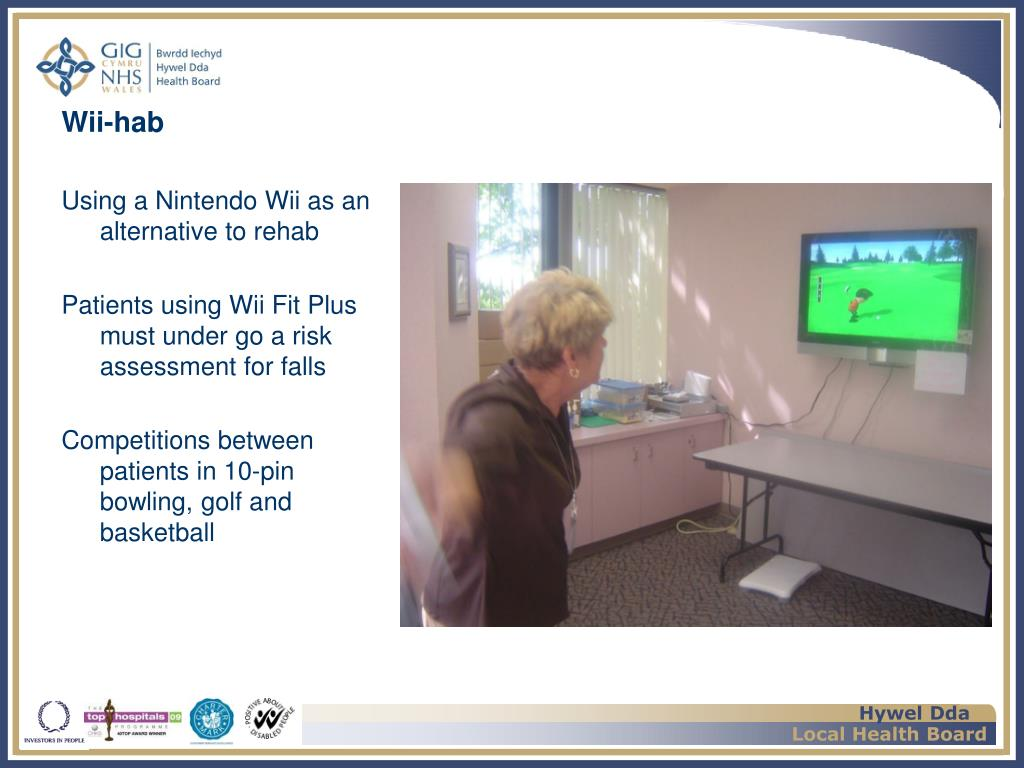 Using a Nintendo Wii as an alternative to rehab