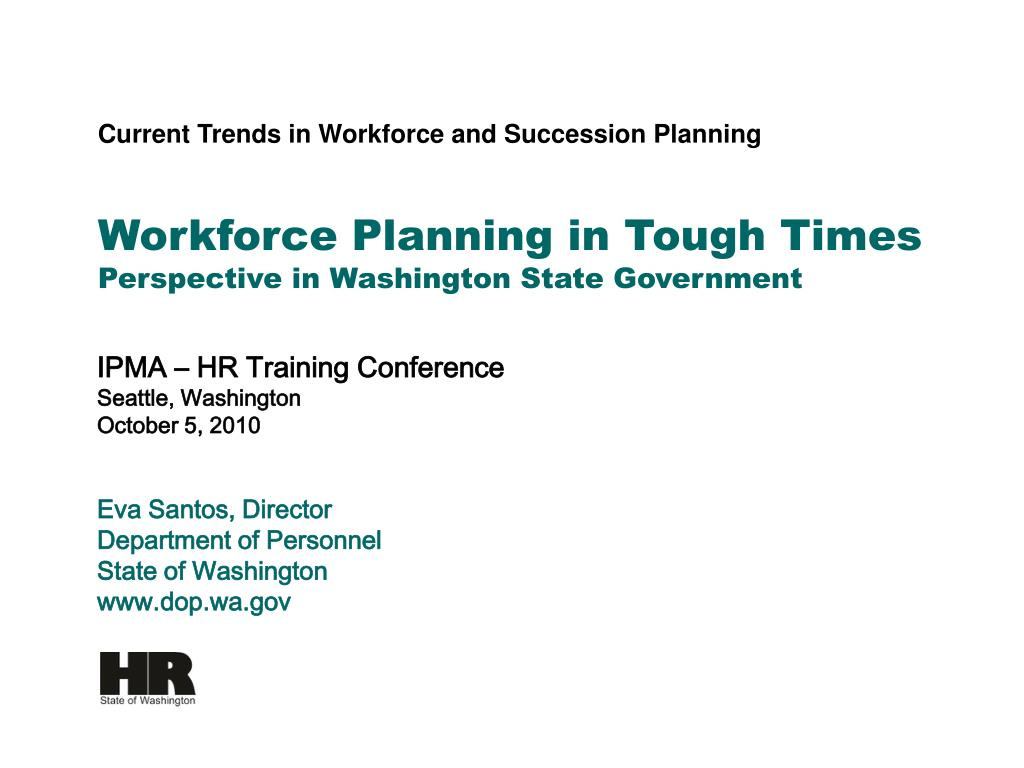 Workforce Planning in Tough Times