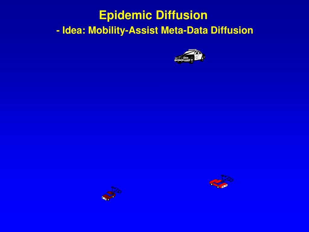 Epidemic Diffusion