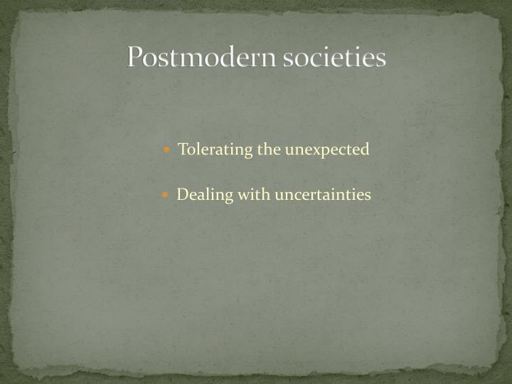 Postmodern societies