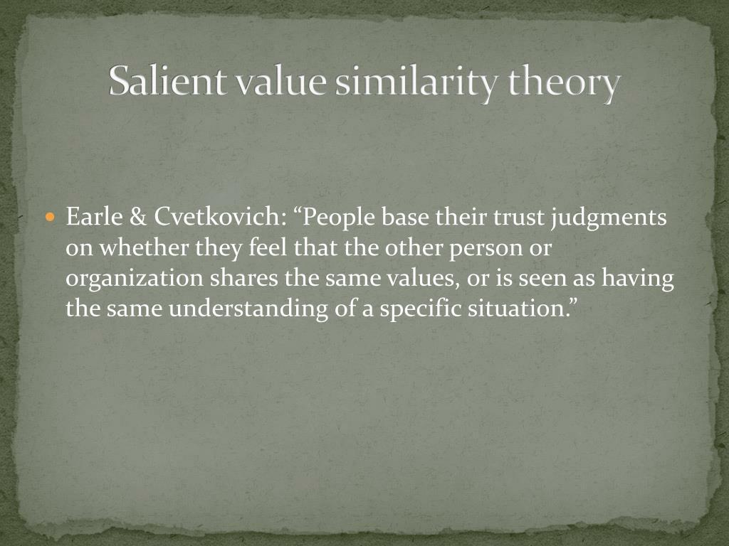 Salient value similarity theory