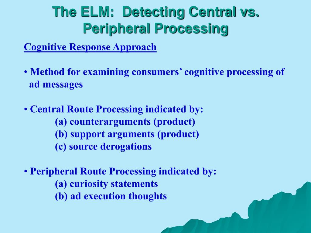 The ELM:  Detecting Central vs.