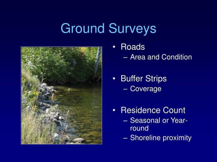 Ground surveys