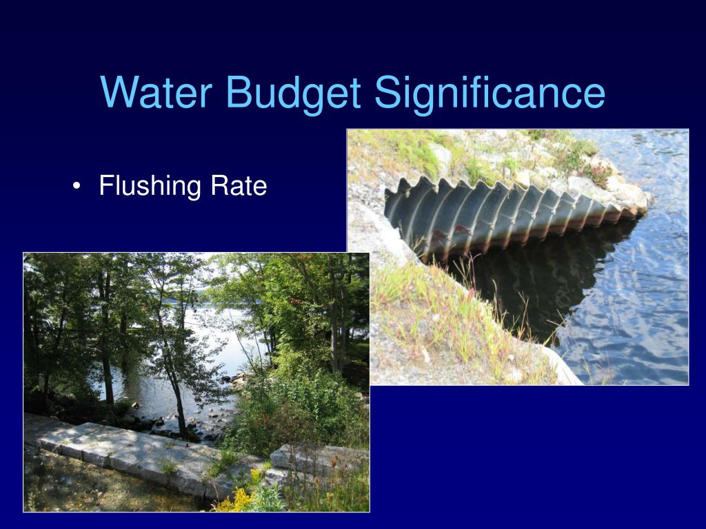 Water Budget Significance