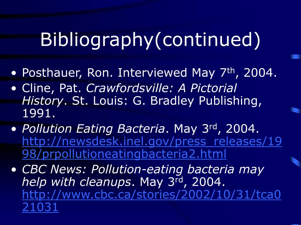 Bibliography(continued)