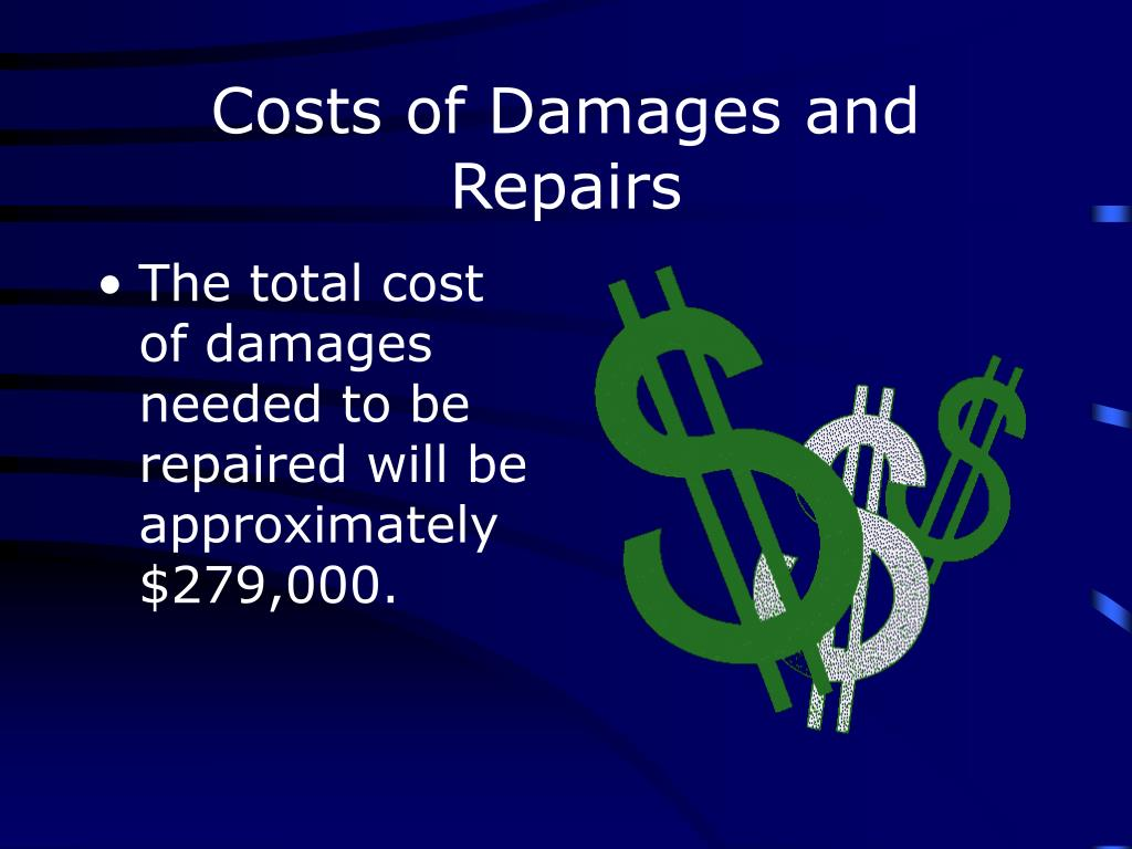 Costs of Damages and Repairs