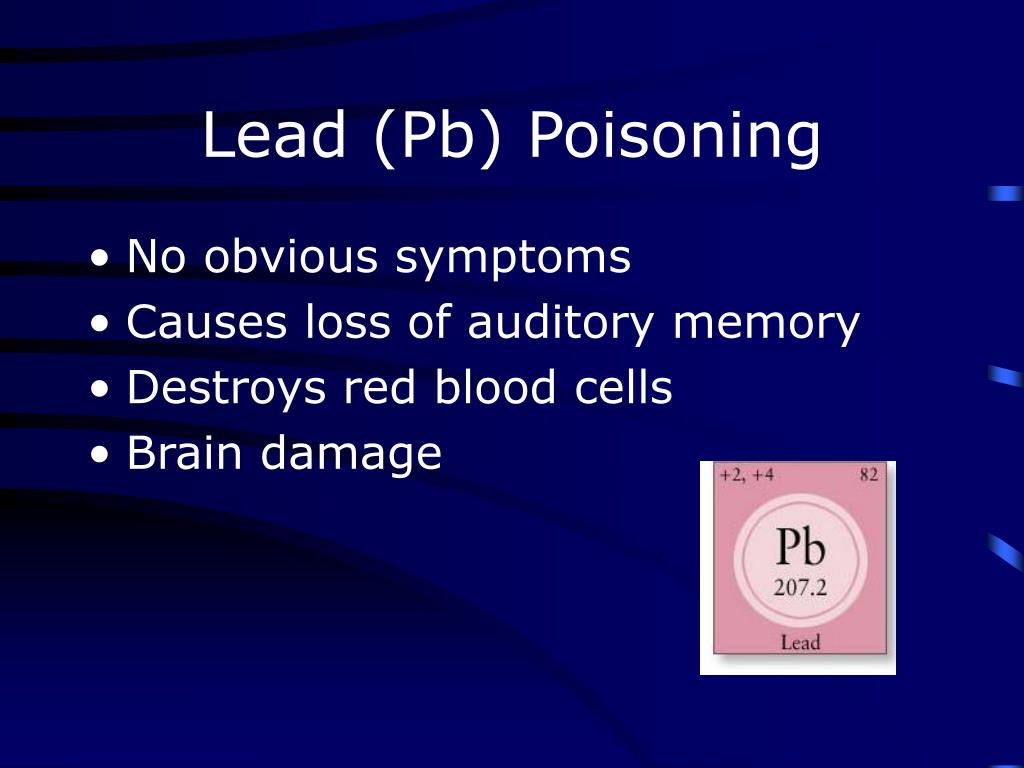 Lead (Pb) Poisoning
