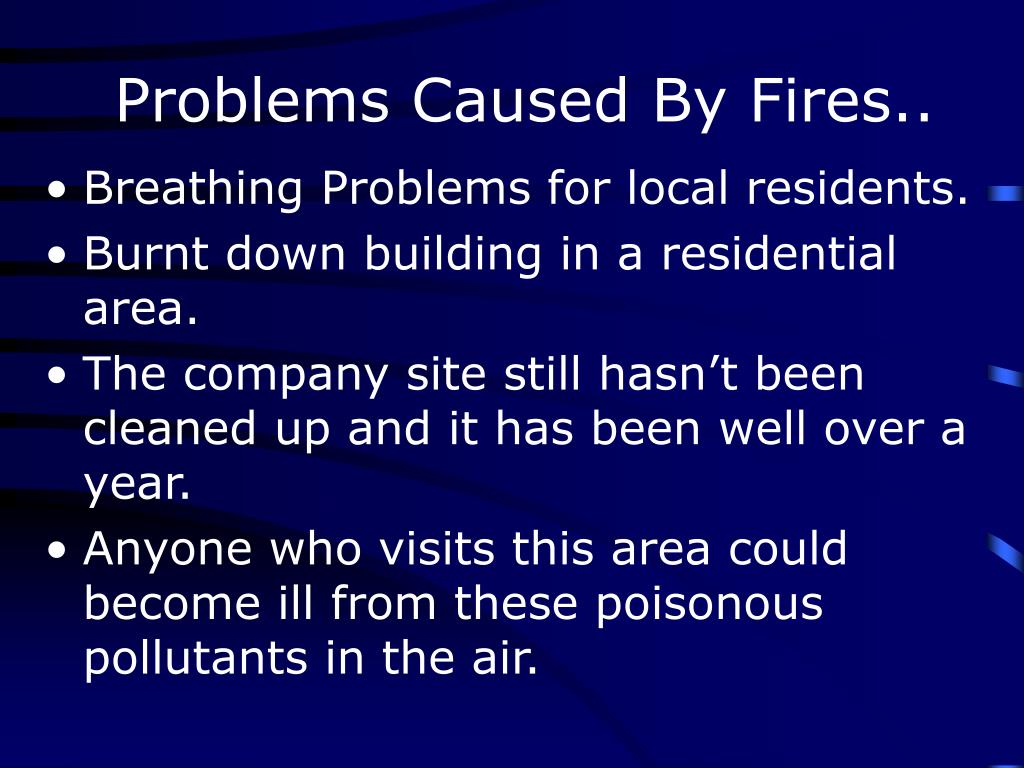 Problems Caused By Fires..