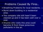 problems caused by fires
