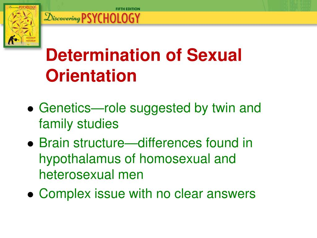 Determination of identity gay