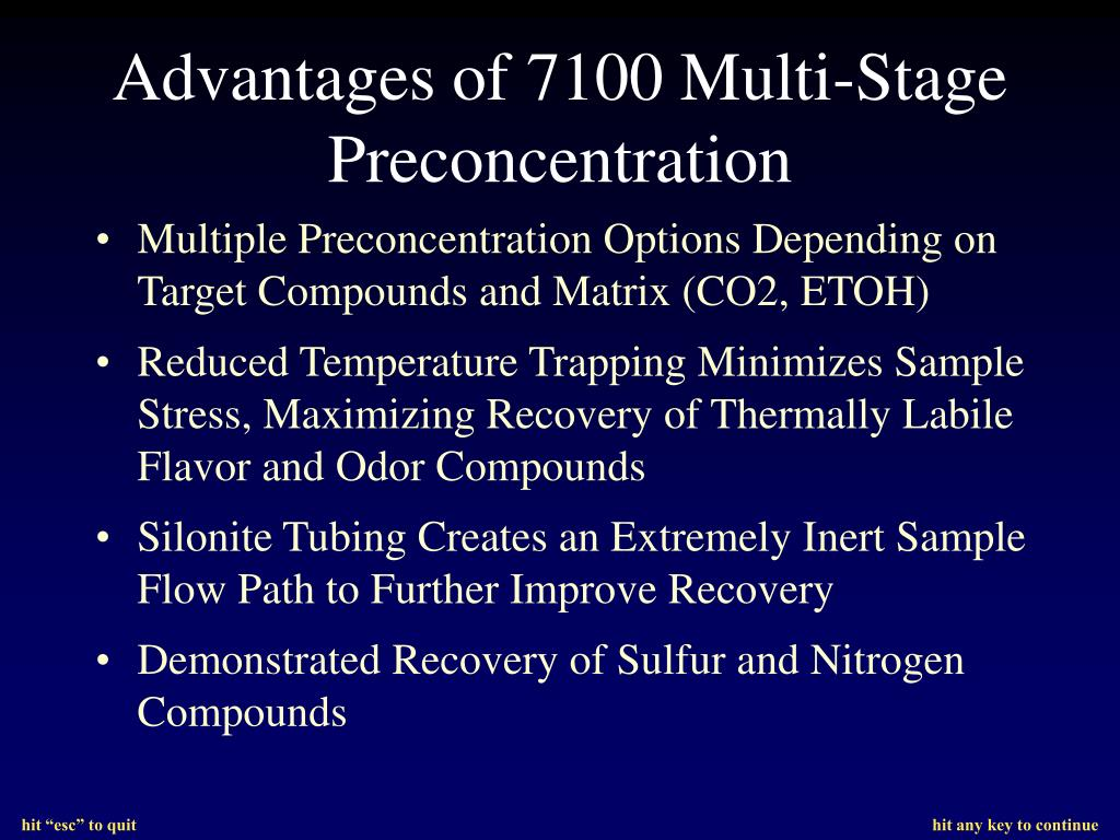 Multiple Preconcentration Options Depending on Target Compounds and Matrix (CO2, ETOH)