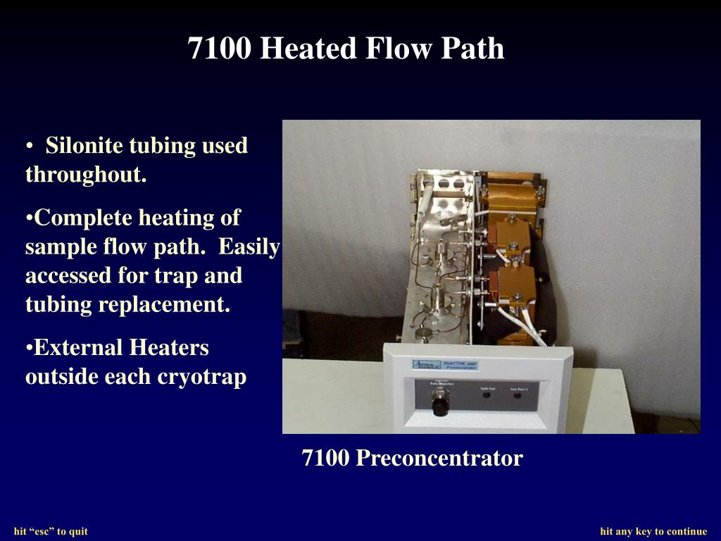 7100 Heated Flow Path