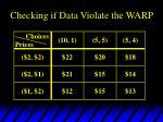 checking if data violate the warp1