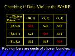 checking if data violate the warp2
