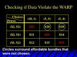 checking if data violate the warp3