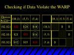 checking if data violate the warp6