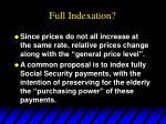 full indexation1