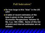 full indexation10