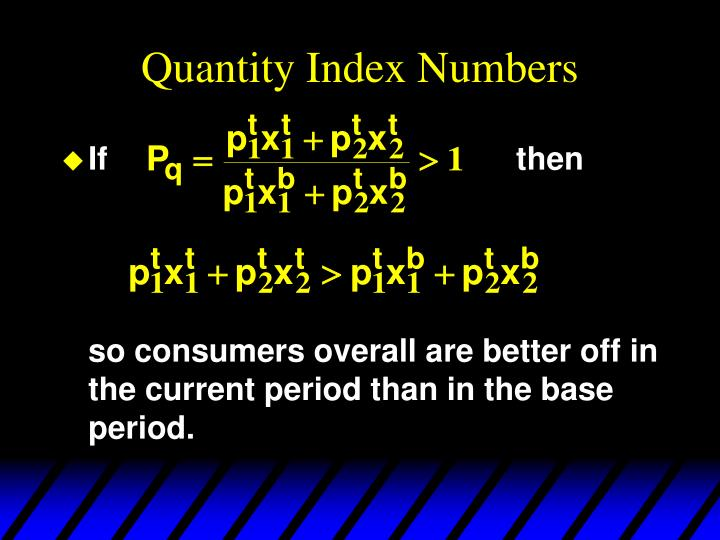 Quantity Index Numbers
