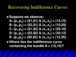 recovering indifference curves1