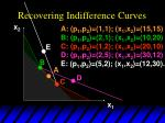 recovering indifference curves34