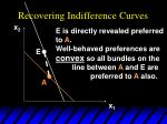 recovering indifference curves38