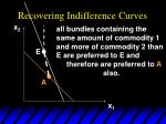recovering indifference curves40
