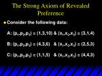 the strong axiom of revealed preference1