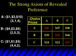 the strong axiom of revealed preference2