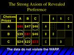 the strong axiom of revealed preference8
