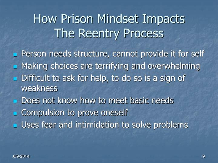 How Prison Mindset Impacts