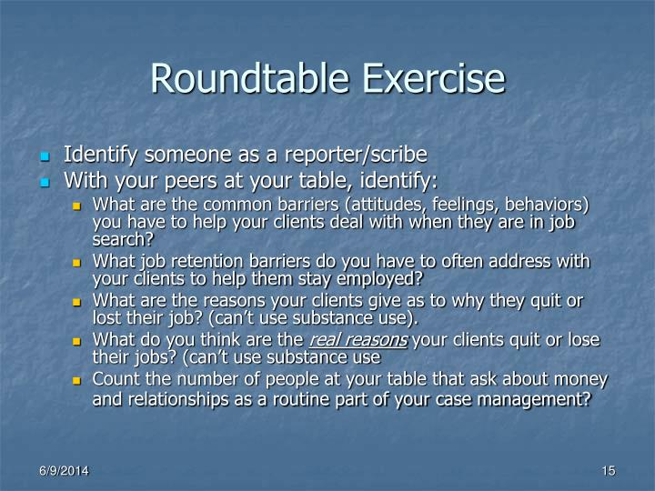 Roundtable Exercise