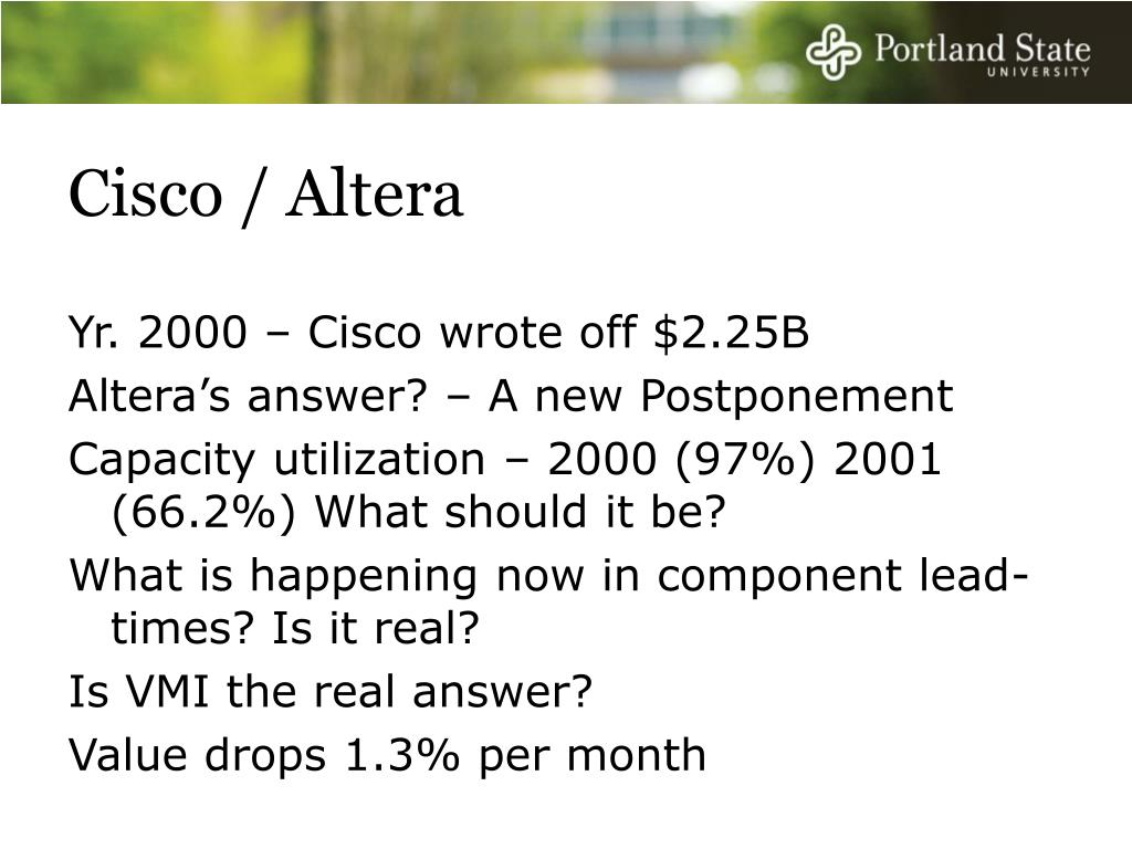 Cisco / Altera