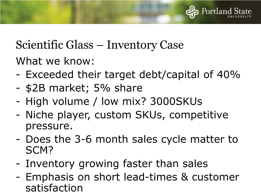 Scientific Glass – Inventory Case