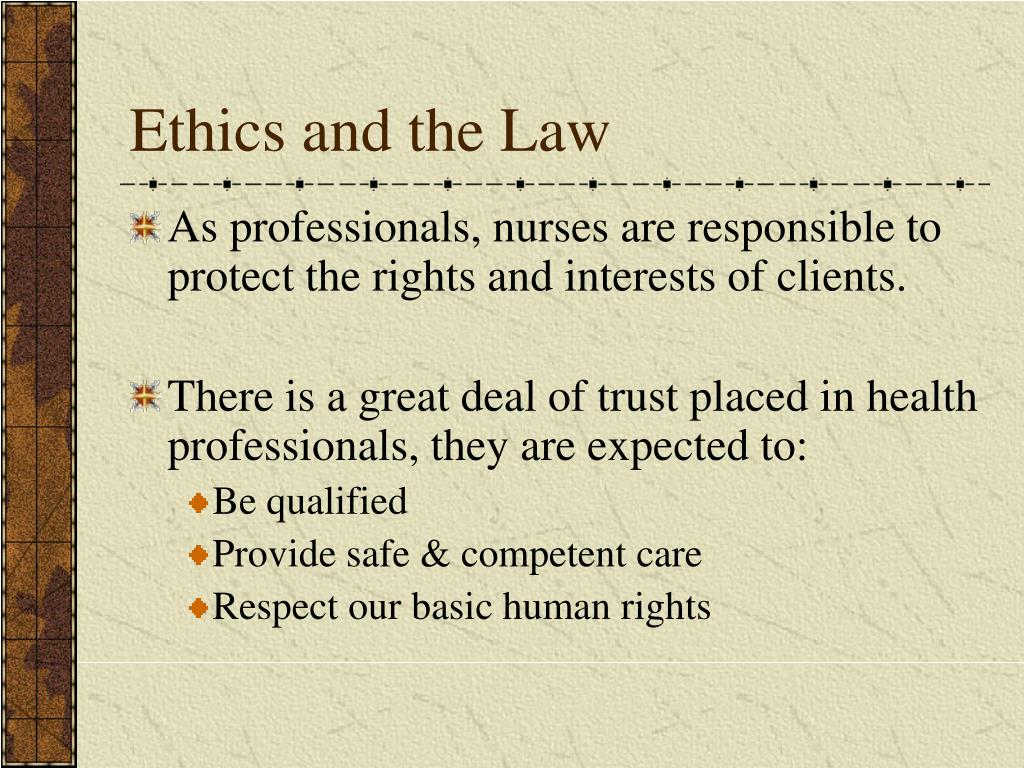 nursing ethics law and professional code A code of ethics is a set of principles of conduct within an code of ethics law and legal an ethics code applies to professional activities across a.