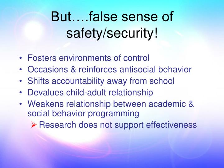 Fosters environments of control