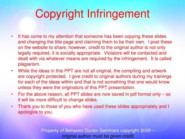 Property of Behavior Doctor Seminars copyright